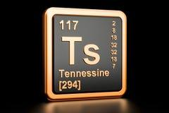 Elemento químico dos Ts de Tennessine rendição 3d Ilustração Stock