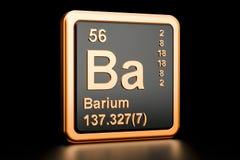 Elemento químico dos vagabundos do bário rendição 3d Ilustração Stock