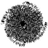 Elemento radial geométrico Geométrico concéntrico, radial abstracto Fotografía de archivo