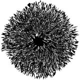 Elemento radial geométrico Geométrico concéntrico, radial abstracto Foto de archivo libre de regalías