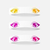 Elemento realístico do projeto: olhos Foto de Stock Royalty Free