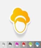 Elemento realistico di progettazione hairstyle illustrazione di stock