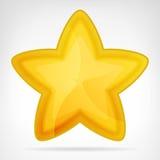 Elemento redondeado de oro del web de la estrella aislado Imagenes de archivo