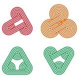 Elemento redondo do logotipo do projeto Fotografia de Stock