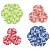 Elemento redondo do logotipo do projeto Fotografia de Stock Royalty Free