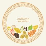 Elemento redondo do outono ilustração stock