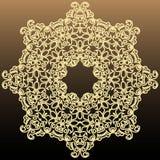 Elemento redondo simétrico rico del vintage en un fondo oscuro libre illustration