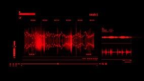 Elemento rojo de HUD Voice Recording Interface Graphic almacen de metraje de vídeo