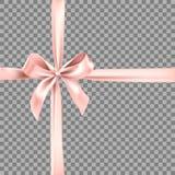 Elemento rosa del nastro Fotografia Stock