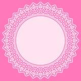 Elemento rosado del diseño del cordón stock de ilustración