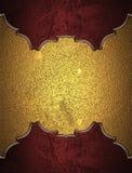 Elemento rosso per progettazione Mascherina per il disegno copi lo spazio per l'opuscolo dell'annuncio o l'invito di annuncio, fo Fotografie Stock Libere da Diritti