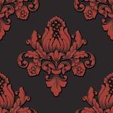Elemento sem emenda do teste padrão do damasco volumétrico do vetor O luxo elegante gravou a textura para papéis de parede, fundo ilustração royalty free