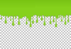 Elemento senza cuciture di gocciolamento verde chiaro della melma illustrazione di stock