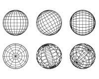 Elemento-sfere del globo Fotografia Stock Libera da Diritti