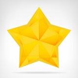 Elemento sombreado de oro del web de la estrella aislado Fotos de archivo