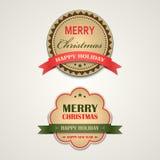 Elemento style retro del diseño del vintage de la Navidad Imagenes de archivo