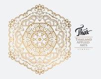 Elemento tailandese di arte per progettazione Fotografie Stock Libere da Diritti