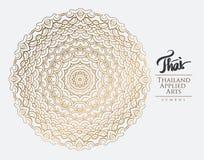 Elemento tailandese di arte per progettazione Fotografia Stock Libera da Diritti