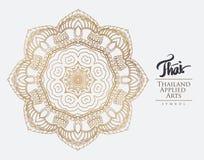 Elemento tailandese di arte per progettazione Immagine Stock
