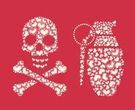 Elemento temático del diseño del día de tarjeta del día de San Valentín Fotografía de archivo libre de regalías