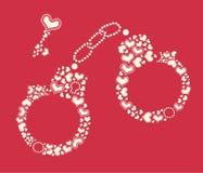 Elemento temático del diseño del día de tarjeta del día de San Valentín Foto de archivo