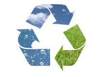 Elemento tre che ricicla simbolo Fotografie Stock Libere da Diritti
