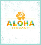 Elemento tropical del diseño del vector de Aloha Hawaii Creative Summer Beach Imagenes de archivo