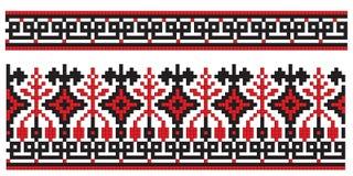 Elemento ucraniano da textura do bordado ilustração royalty free