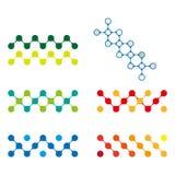 Elemento variopinto di logo della molecola di progettazione. Fotografie Stock Libere da Diritti