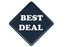 Elemento variopinto di simbolo di migliore affare isolato su fondo bianco royalty illustrazione gratis