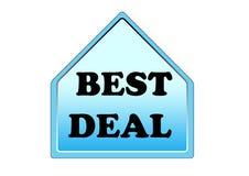 Elemento variopinto di simbolo di migliore affare isolato su fondo bianco illustrazione di stock