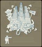 Elemento-vector de la ciudad Foto de archivo