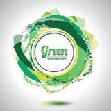Elemento verde abstrato do círculo. Imagens de Stock Royalty Free