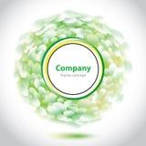 Elemento verde-blanco abstracto para la compañía Foto de archivo