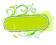 Elemento verde del diseño Imagen de archivo libre de regalías