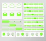Elemento verde del progreso Ilustración del Vector