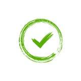 Elemento verde del segno del segno di spunta Fotografia Stock