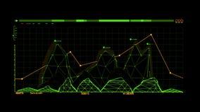 Elemento verde di HUD Rocket Missile Interface Graphic ElementOrange HUD Infographic Hologram Interface Graphic royalty illustrazione gratis