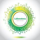 Elemento verdoso abstracto del círculo del laboratorio Imagen de archivo libre de regalías