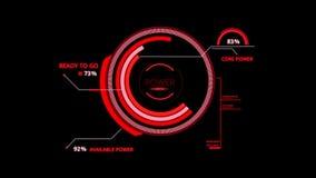 Elemento vermelho de HUD Power Control Interface Graphic ilustração royalty free