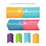 Elemento vidrioso del diseño de la barra de la flecha Imágenes de archivo libres de regalías