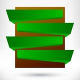 Elemento vuoto in bianco di progettazione di origami. Fotografia Stock