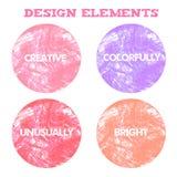 Elementos à moda para o projeto Ilustração do vetor Fotos de Stock