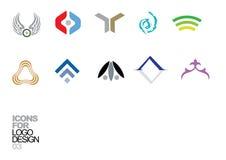 Elementos 03 del vector del diseño de la insignia Fotos de archivo