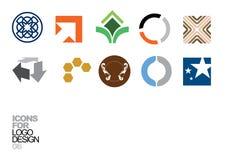 Elementos 06 del vector del diseño de la insignia Imagen de archivo