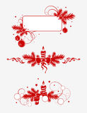 Elementos 1 da decoração do Natal Fotos de Stock Royalty Free