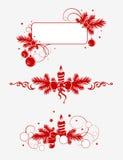 Elementos 1 de la decoración de la Navidad stock de ilustración