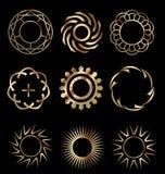 Elementos 1 del diseño del oro Imagen de archivo libre de regalías