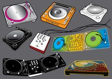 Elementos #2 de los sonidos: Placas giratorias Fotografía de archivo libre de regalías