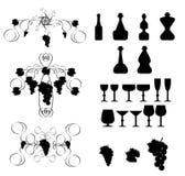 Elementos 2 del diseño del vino Foto de archivo libre de regalías
